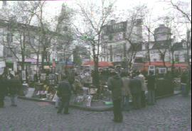 Place de Tertre à Monmartre