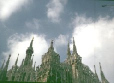 Milan: The spires going up to the sky